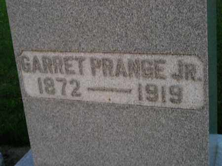 PRANGE, GARRET JR. - Deuel County, South Dakota   GARRET JR. PRANGE - South Dakota Gravestone Photos