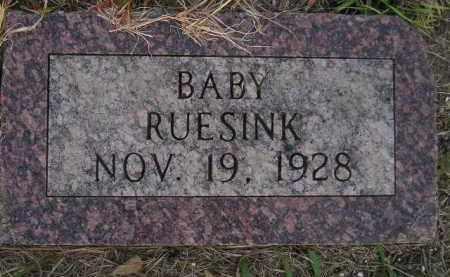 RUESINK, BABY - Deuel County, South Dakota   BABY RUESINK - South Dakota Gravestone Photos