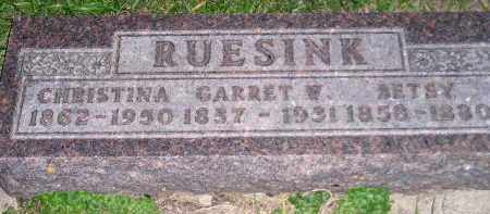 RUESINK, CHRISTINA - Deuel County, South Dakota | CHRISTINA RUESINK - South Dakota Gravestone Photos