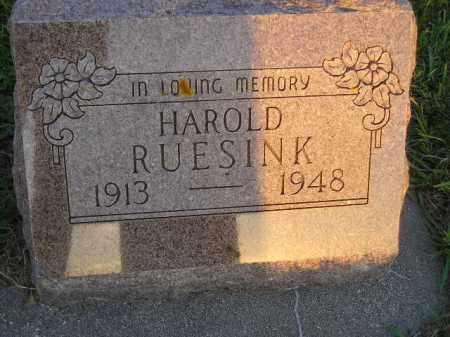 RUESINK, HAROLD - Deuel County, South Dakota | HAROLD RUESINK - South Dakota Gravestone Photos
