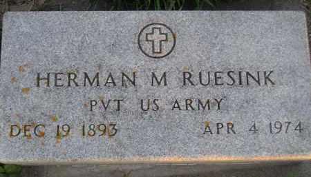 RUESINK, HERMAN M. - Deuel County, South Dakota   HERMAN M. RUESINK - South Dakota Gravestone Photos