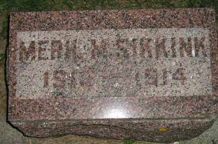 SIKKINK, MERIL M. - Deuel County, South Dakota   MERIL M. SIKKINK - South Dakota Gravestone Photos