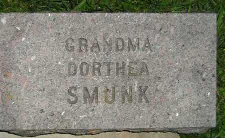 SMUNK, DORTHEA - Deuel County, South Dakota   DORTHEA SMUNK - South Dakota Gravestone Photos