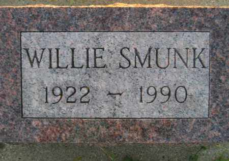 SMUNK, WILLIE - Deuel County, South Dakota | WILLIE SMUNK - South Dakota Gravestone Photos