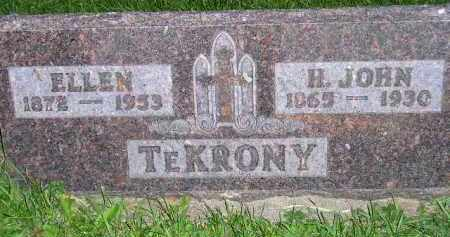 TE KRONY, H. JOHN - Deuel County, South Dakota | H. JOHN TE KRONY - South Dakota Gravestone Photos
