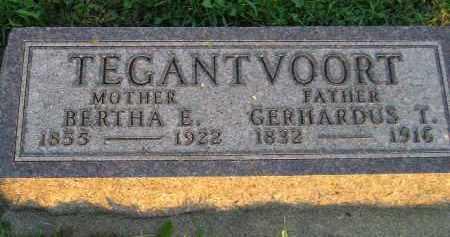 TEGANTVOORT, BERTHA E. - Deuel County, South Dakota | BERTHA E. TEGANTVOORT - South Dakota Gravestone Photos