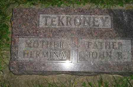 TEKRONEY, JOHN B. - Deuel County, South Dakota | JOHN B. TEKRONEY - South Dakota Gravestone Photos