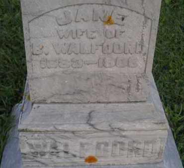 WALFOORD, JANE - Deuel County, South Dakota   JANE WALFOORD - South Dakota Gravestone Photos