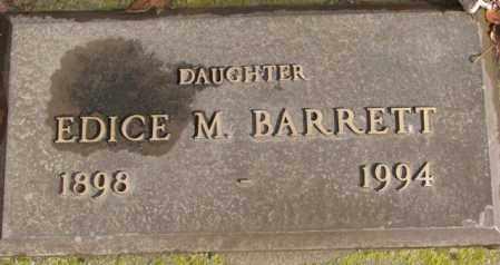 BARRETT, EDICE M. - Douglas County, South Dakota | EDICE M. BARRETT - South Dakota Gravestone Photos