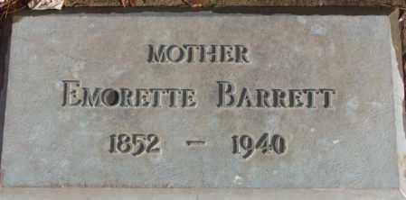 BARRETT, EMORETTE - Douglas County, South Dakota | EMORETTE BARRETT - South Dakota Gravestone Photos