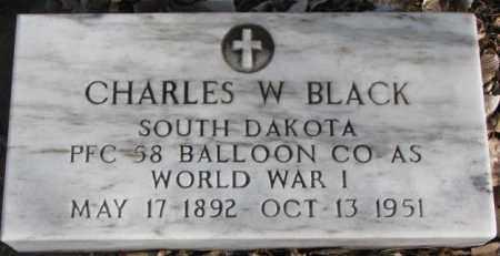 BLACK, CHARLES W. - Douglas County, South Dakota | CHARLES W. BLACK - South Dakota Gravestone Photos