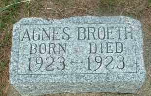 BROETH, AGNES - Douglas County, South Dakota | AGNES BROETH - South Dakota Gravestone Photos