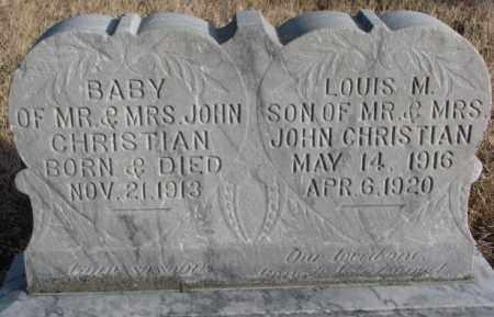 CHRISTIAN, BABY - Douglas County, South Dakota   BABY CHRISTIAN - South Dakota Gravestone Photos
