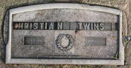 CHRISTIAN, TWINS - Douglas County, South Dakota | TWINS CHRISTIAN - South Dakota Gravestone Photos