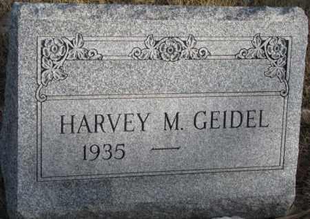 GEIDEL, HARVEY M. - Douglas County, South Dakota | HARVEY M. GEIDEL - South Dakota Gravestone Photos