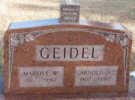 GEIDEL, MARTHA W. - Douglas County, South Dakota | MARTHA W. GEIDEL - South Dakota Gravestone Photos