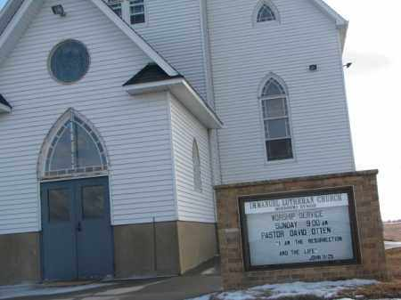 **IMMANUEL LUTHERAN, CHURCH - Douglas County, South Dakota | CHURCH **IMMANUEL LUTHERAN - South Dakota Gravestone Photos