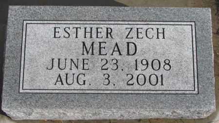 MEAD, ESTHER ZECH - Douglas County, South Dakota | ESTHER ZECH MEAD - South Dakota Gravestone Photos