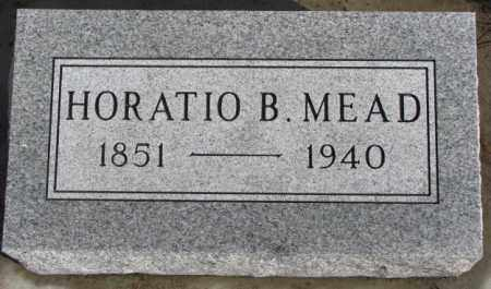 MEAD, HORATIO B. - Douglas County, South Dakota | HORATIO B. MEAD - South Dakota Gravestone Photos
