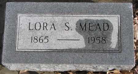 MEAD, LORA S. - Douglas County, South Dakota   LORA S. MEAD - South Dakota Gravestone Photos