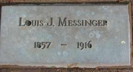 MESSINGER, LOUIS J. - Douglas County, South Dakota   LOUIS J. MESSINGER - South Dakota Gravestone Photos