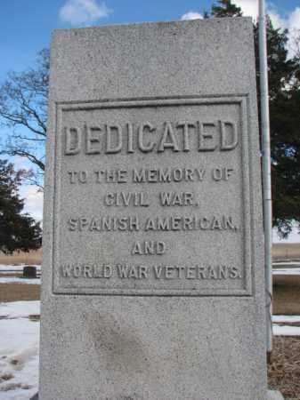 **VETS MONUMENT, . - Douglas County, South Dakota   . **VETS MONUMENT - South Dakota Gravestone Photos