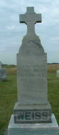 WEISS, FRANK - Douglas County, South Dakota   FRANK WEISS - South Dakota Gravestone Photos