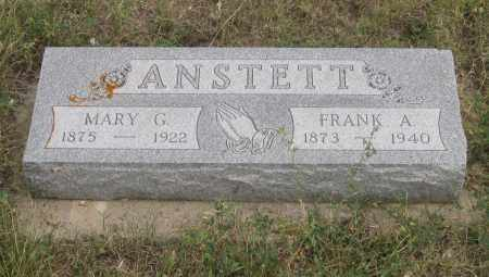 ANSTETT, FRANK  A. - Fall River County, South Dakota | FRANK  A. ANSTETT - South Dakota Gravestone Photos