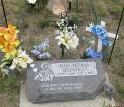 ARSENEAULT, ELIJA THOMAS - Fall River County, South Dakota | ELIJA THOMAS ARSENEAULT - South Dakota Gravestone Photos