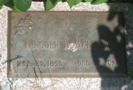 BALTZLY, LINCOLN  E. - Fall River County, South Dakota | LINCOLN  E. BALTZLY - South Dakota Gravestone Photos