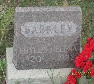 BARKLEY, PHYLLIS  HELENA - Fall River County, South Dakota | PHYLLIS  HELENA BARKLEY - South Dakota Gravestone Photos
