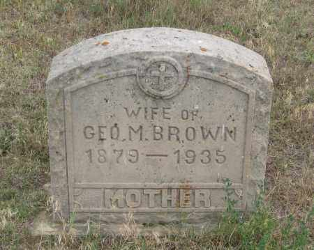 BROWN, WIFE OF GEO. M. - Fall River County, South Dakota | WIFE OF GEO. M. BROWN - South Dakota Gravestone Photos