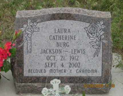 JACKSON - LEWIS BURG, LAURA CATHERINE - Fall River County, South Dakota | LAURA CATHERINE JACKSON - LEWIS BURG - South Dakota Gravestone Photos