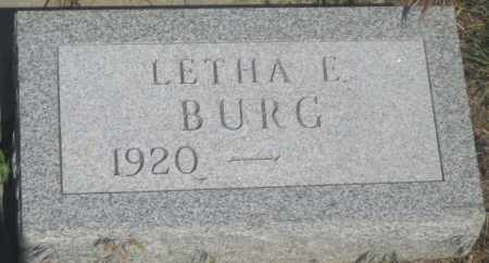 BURG, LETHA  E. - Fall River County, South Dakota | LETHA  E. BURG - South Dakota Gravestone Photos