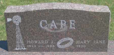CAPE, HOWARD  J. - Fall River County, South Dakota | HOWARD  J. CAPE - South Dakota Gravestone Photos