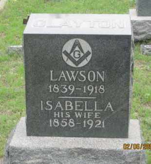 CLAYTON, LAWSON - Fall River County, South Dakota | LAWSON CLAYTON - South Dakota Gravestone Photos