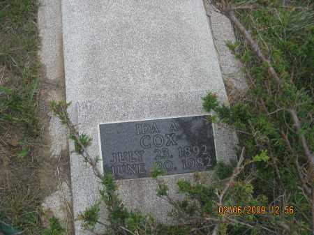 COX, IDA  A. - Fall River County, South Dakota | IDA  A. COX - South Dakota Gravestone Photos