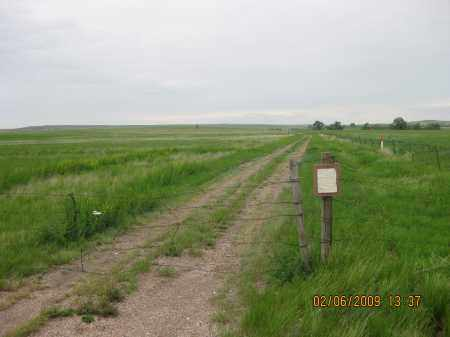 *DUCK CREEK CEMETERY, VIEW OF GATE ALONG HWY - Fall River County, South Dakota | VIEW OF GATE ALONG HWY *DUCK CREEK CEMETERY - South Dakota Gravestone Photos
