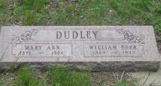 DUDLEY, WILLIAM BURR - Fall River County, South Dakota | WILLIAM BURR DUDLEY - South Dakota Gravestone Photos