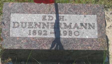 DUENNERMANN, ED  H. - Fall River County, South Dakota   ED  H. DUENNERMANN - South Dakota Gravestone Photos