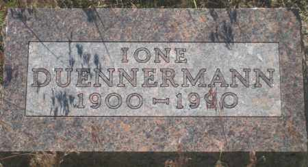 DUENNERMANN, IONE - Fall River County, South Dakota | IONE DUENNERMANN - South Dakota Gravestone Photos