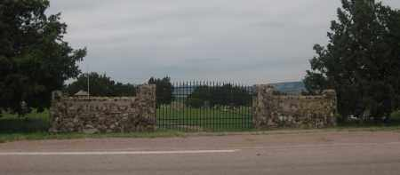 *FAIRVIEW (ORAL) CEMETERY, VIEW OF FRONT GATE - Fall River County, South Dakota | VIEW OF FRONT GATE *FAIRVIEW (ORAL) CEMETERY - South Dakota Gravestone Photos