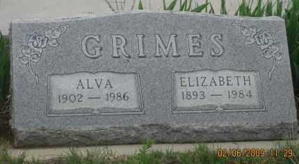 GRIMES, ALVA - Fall River County, South Dakota | ALVA GRIMES - South Dakota Gravestone Photos
