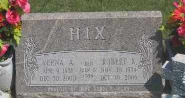 HIX, ROBERT  K. - Fall River County, South Dakota | ROBERT  K. HIX - South Dakota Gravestone Photos