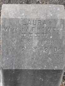 HOWELL, LAURA - Fall River County, South Dakota | LAURA HOWELL - South Dakota Gravestone Photos