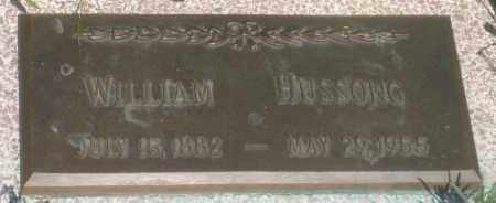 HUSSONG, WILLIAM - Fall River County, South Dakota | WILLIAM HUSSONG - South Dakota Gravestone Photos