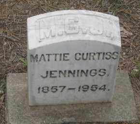 CURTIS JENNINGS, MATTIE - Fall River County, South Dakota | MATTIE CURTIS JENNINGS - South Dakota Gravestone Photos