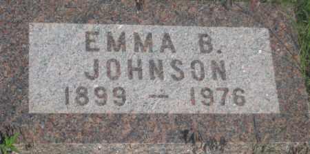 JOHNSON, EMMA  B. - Fall River County, South Dakota   EMMA  B. JOHNSON - South Dakota Gravestone Photos