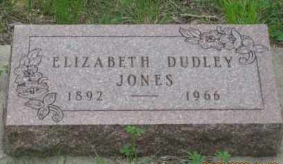 DUDLEY JONES, ELIZABETH - Fall River County, South Dakota | ELIZABETH DUDLEY JONES - South Dakota Gravestone Photos