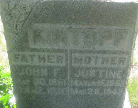 KINTOPF, JUSTINE - Fall River County, South Dakota | JUSTINE KINTOPF - South Dakota Gravestone Photos